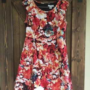 Liz Claiborne Red Floral Dress size 10